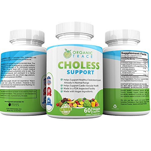 (Choless Support #1 Recommended Cholesterol Supplement. Supports Healthy Cholesterol Levels and Heart Health With All-Natural Powerful Cholesterol Complex. Control Your Cholesterol Naturally!)