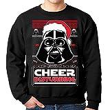 Darth Vader Ugly Christmas Sweater I Find Your Lack Of Cheer Disturbing Sweatshirt (Medium, Black)