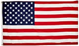American Flag 3'x5' - Made in USA from 100% United States of America material - Poly Cotton US Flag for Inside or Outside use - Proudly Wave as Replacement or Decorative Flag - Thank You Veterans - Show Your Patriotism Today - Satisfaction Guarantee