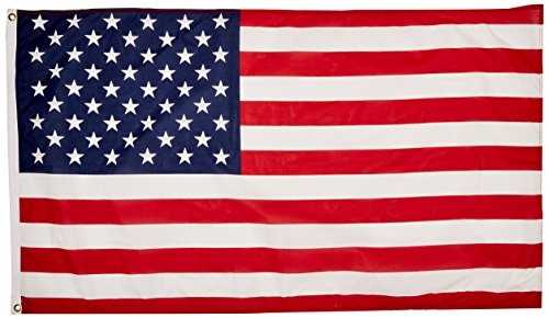 American Flag 3'x5′ – Made in USA from 100% United States of America material – Poly Cotton US Flag for Inside or Outside use – Proudly Wave as Replacement or Decorative Flag – Thank You Veterans – Show Your Patriotism Today – Satisfaction Guarantee Review