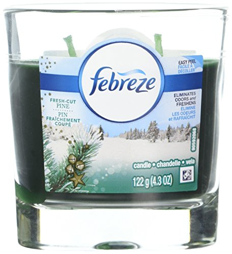 UPC 037000960478, Febreze Scented Candle Fresh Cut Pine Air Freshener (1 Count, 4.3 Oz), 0.269 Pound