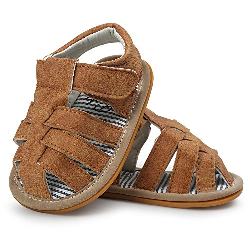 ❤️️ Mealeaf ❤️️ Baby Boys Sandals Shoe Casual Shoes Sneaker Anti-Slip Soft Sole Toddler 0-18 Month Khaki (Boy Sets Baby Crib Jordan Bedding)