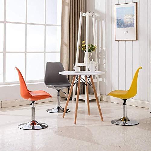 Barstolar Xiuyun kontorsstol spelstol svängbar stol datorstol, fritidsförhandlande ryggstöd stol med skivbas och justerbar höjd svängstol (färg: F)