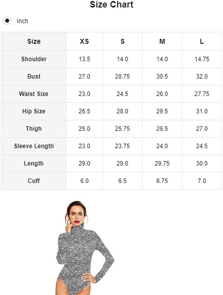 Verdusa Womens High Neck Long Sleeve Knit Bodysuit