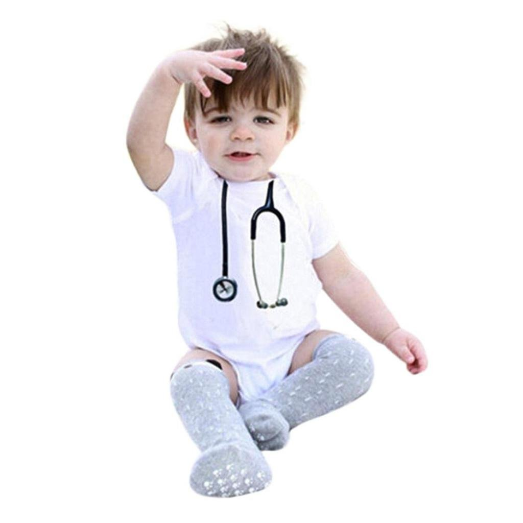8b09edbca Boys Rompers SHOBDW Baby Girls Funny Cute Print Cosplay Doctor Clothes  Casual Short Sleeve Outfits Newborn ...