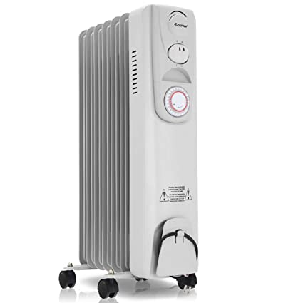 83f032c7389 Amazon.com  COSTWAY Oil Space Heaters 1500W Electric Filled Radiator Heater  Portable Home Office Room Radiant Heat 7-Fin w  Timer Thermostat  Home    Kitchen