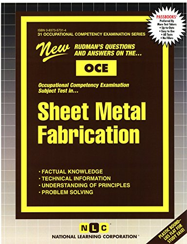SHEET METAL FABRICATION (Occupational Competency Examination Series) (Passbooks)