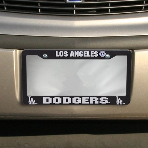 Buy dodgers license plate frame black