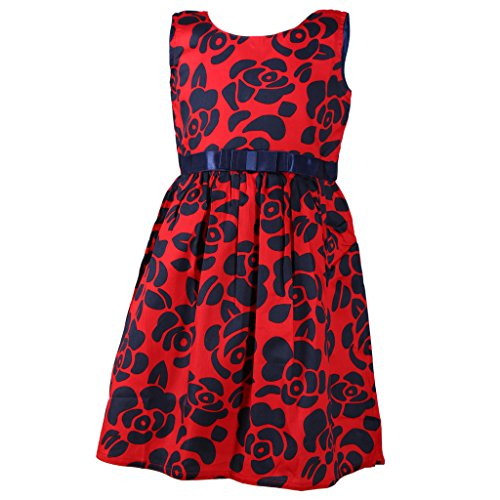 Sweety Jilax Red and Blue 7 Year Girls Frock