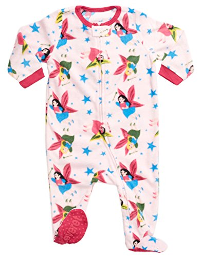 Leveret Little Baby Girls Fleece Footed Sleeper Pajama Onsie (Size 6 Months-5 Toddler) (6-12 Months, Princess)