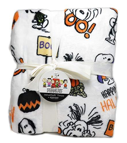 (Berkshire Snoopy in Halloween Costumes Peanuts 55 x 70 Inch VelvetSoft Throw)