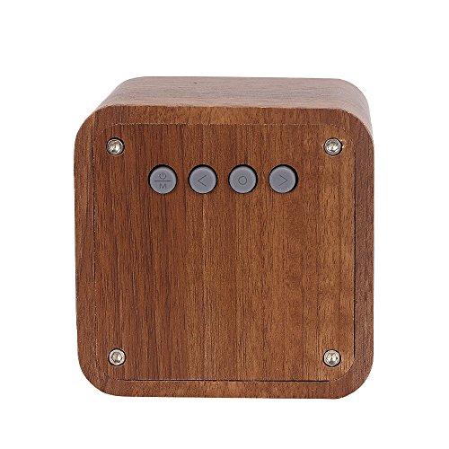 Molshine Bluetooth Speaker Wooden Cube Portable Bluetooth 40