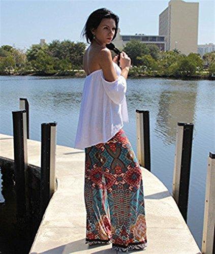 Pantaloni Stampato Palazzo Eleganti Lounayy Donna Tempo Nahen Spiaggia Taille Lunghi Relaxed Comodo Leggerochic Libero Bunt 88qgwx5vd