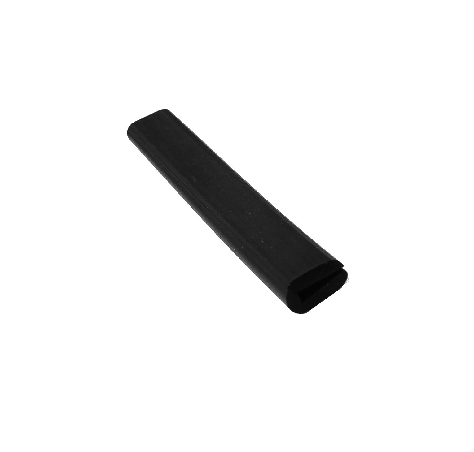 Herco 2043U Neoprene Rubber Rounded U-Channel Edge Protector Extrusion 1/16'' Slot x 50 feet