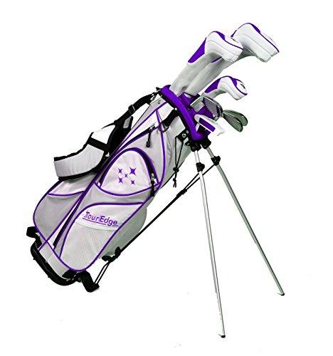 Tour Edge LUSRGL07.BP Women's 2014 Lady Edge Golf Starter Set, Ladies Flex, Right Hand, Graphite, Plum by Tour Edge