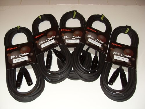 Pro Xlr Microphone Cable - Kirlin 25ft XLR Microphone Pro Cable 5 Pack of 25' Audio Cable