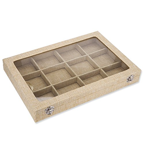stylish-contemporary-jewellery-gift-storage-compartment-box-tray-style-luxurious-hessian-linen-fabri