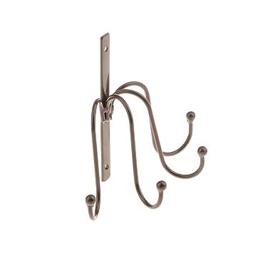 Homyl Heavy Duty Over The Door Hanger 4 Hook Over Door Hook Washroom  Bathroom