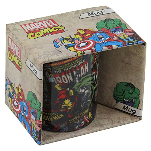 Amazon.com: Marvel Black Comic Mug: Paintings