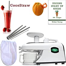 220 Volt Tribest Green Star GSE-5000 + PACK4 Accessory Package - Elite Jumbo Twin Gear Auger Juice Extractor