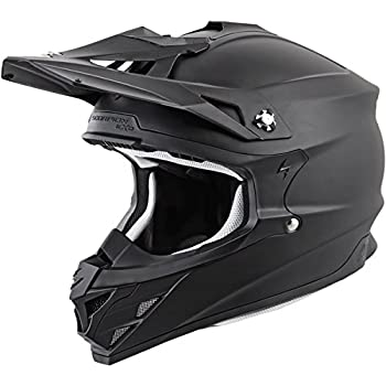 Scorpion VX-35 Solid Off-Road Motorcycle Helmet (Matte Black, Large)