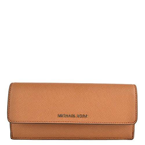 MICHAEL Michael Kors Jet Set Travel Slim Saffiano Leather Wallet, Color Acorn by Michael Kors