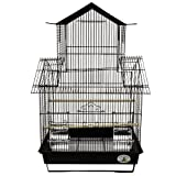Kings Cages ES 1818 V travelling bird cage toy toys Cockatiels Finches Parakeets (WHITE, Cage Only)