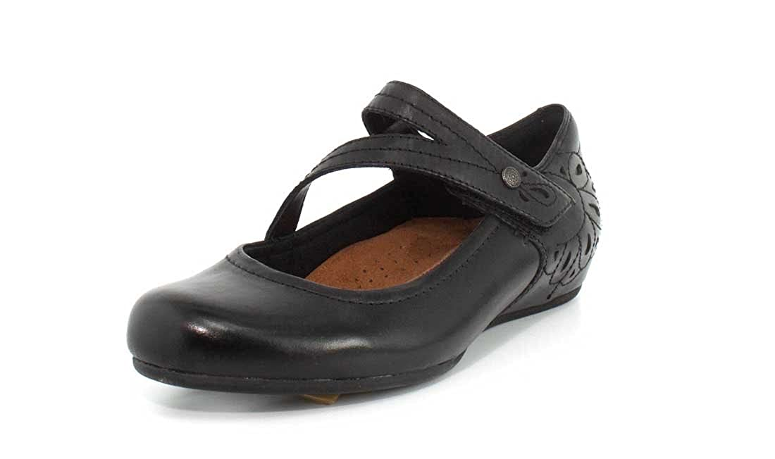Rockport Cobb Hill Womens Sharleen Mary Jane Black Ithr Flat 6.5 M