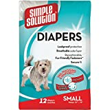 Simple Solution Disposable Dog Diapers for Female Dogs | Super Absorbent Leak-Proof Fit | Small | 12 Count