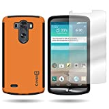 CoverON® for LG G3 Hybrid Case [VitaCase Series] Ultra Slim Fit Hard Polycarbonate Rubberized Back Phone Cover - (Neon Orange / Black)