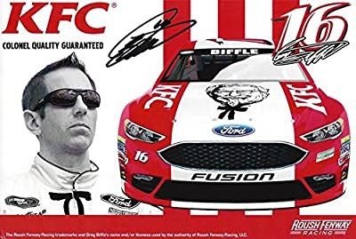 AUTOGRAPHED 2016 Greg Biffle #16 Kentucky Fried Chicken Racing KFC NASHVILLE HOT (Daytona International Speedway) 4X6 Inch Signed Picture NASCAR Hero Card Photo with COA