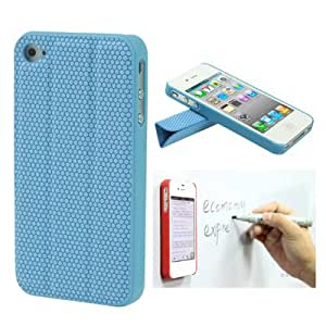 DapurMu - Double-layer Multi-function Smart Magnetic Protective Shell for iPhone 4 & 4S (Blue)