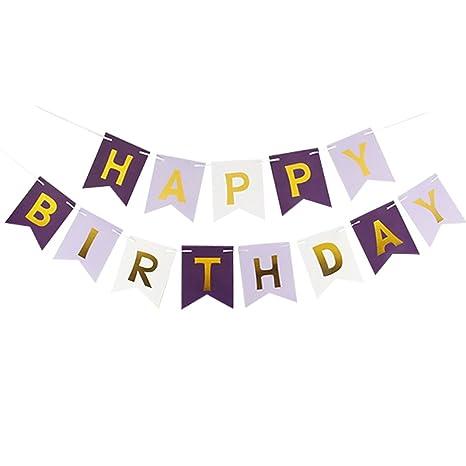 Amazon.com: funpa fiesta de cumpleaños Banner Feliz ...