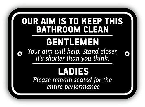 Bathroom Signs Amazonca - Clean bathroom signs