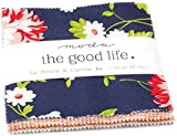"The Good Life Charm Pack by Bonnie & Camille; 42-5"" Precut Fabric Quilt Squares"