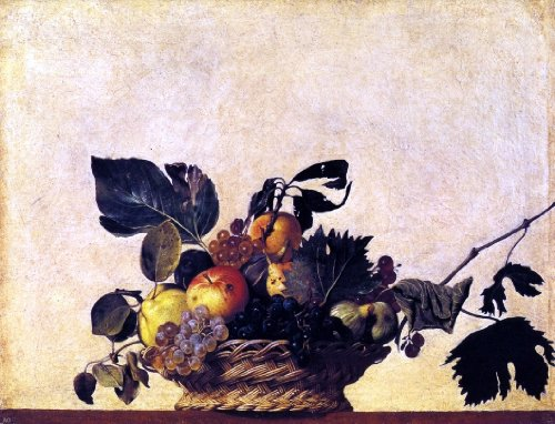 Art Oyster Caravaggio Still Life with a Basket of Fruit - 18.05