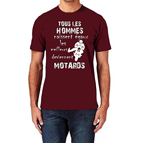 Naissent Motard Tous Uraeus shirt Deviennent Les Bordeaux Égaux T Mais Hommes qxgXF
