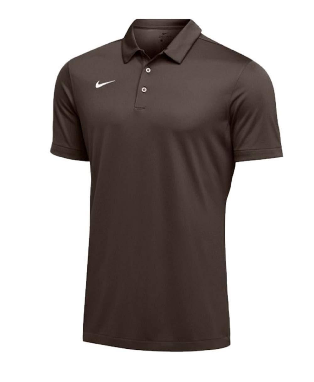 Nike Mens Dri-FIT Short Sleeve Polo Shirt (X-Large, Dark Brown) by Nike