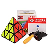 Shengshou Pyraminx Speedcubing Black Puzzle (Black1)