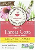 Traditional Medicinals, Organic Lemon Echinacea Throat Coat, 16 ct