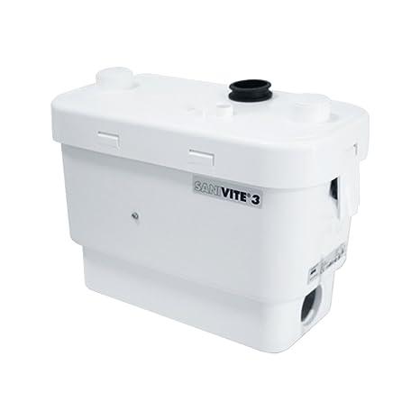 SFA Hebeanlage Sanibroy SaniVite, Schmutzwasser-Pumpe für geräuscharme Abwasserentsorgung mit integrierter Rückschlagklappe,