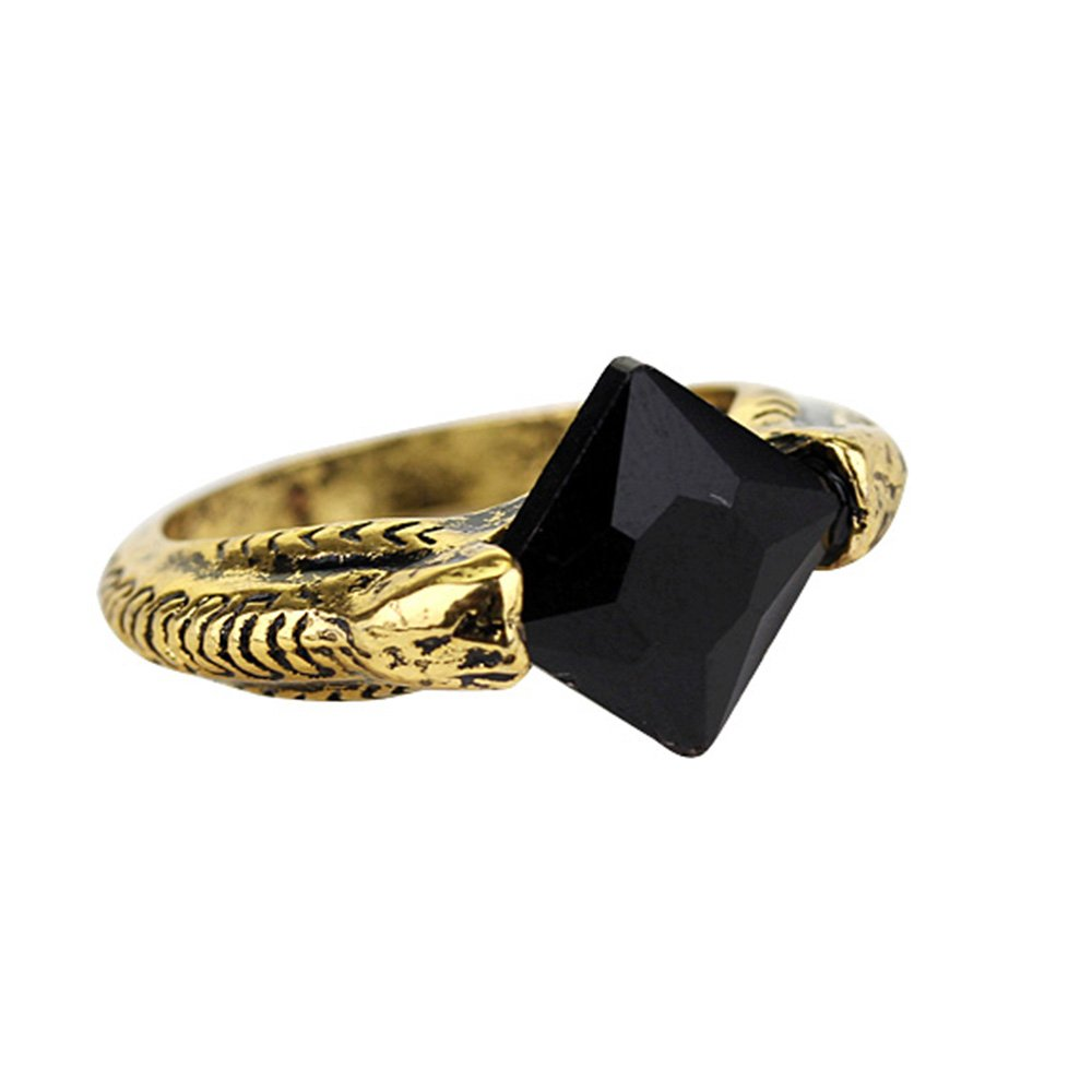 Magical Jewelry Gift Co. Marvolo Gaunt Signet Horcrux Ring - Black/Gold (0.3 oz)