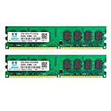 DDR2 667 MHz PC2-5300 4GB Ram, Motoeagle 2Rx8 PC2-5300U CL5 Desktop Memory Kit (2x2GB)
