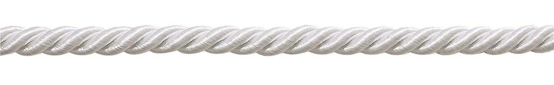 10Yard valor pack de tamaño mediano 5/16ribete de, Basic blanco decorativo cuerda, estilo # 0516NL color: blanco–A1(30pies/9,5metros) DecoPro