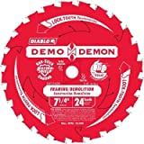Diablo 7-1/4 in. 24-Tooth Demo Demon Tracking Point Amped Saw Blade