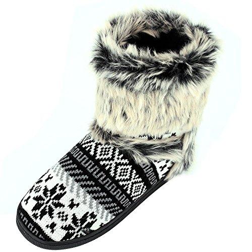 Sibba Damen Pantoffeln Stiefel Schuhe mit weichen weichen weichen Pom Poms Slippers ... af06ee