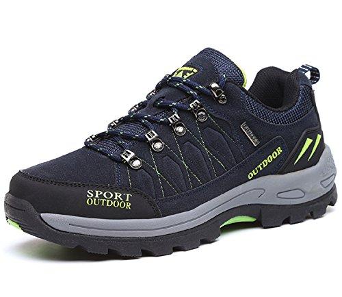 Chaussures de Randonnée Outdoor pour Hommes Femmes Basses Trekking et Les Promenades Sneakers Verte Bleu Noir 36-47 1