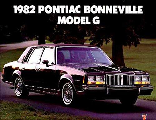 Brochure Sales Pontiac Bonneville (1982 Pontiac Bonneville Sales Brochure Literature Book Advertisement Options)