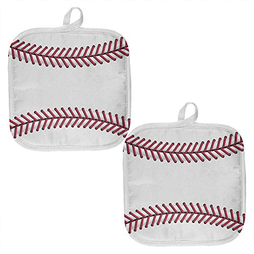 Old Glory Baseball All Over Pot Holder (Set of 2) Multi Standard One Size by Old Glory