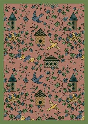 (Joy Carpets Kaleidoscope Sweet Tweet Whimsical Area Rugs, 64-Inch by 92-Inch by 0.36-Inch,)
